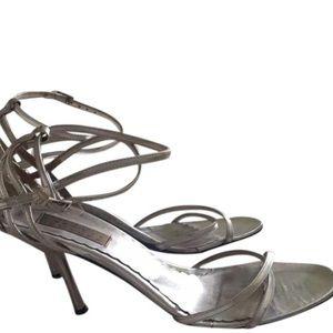Silver sandal Barney's ny